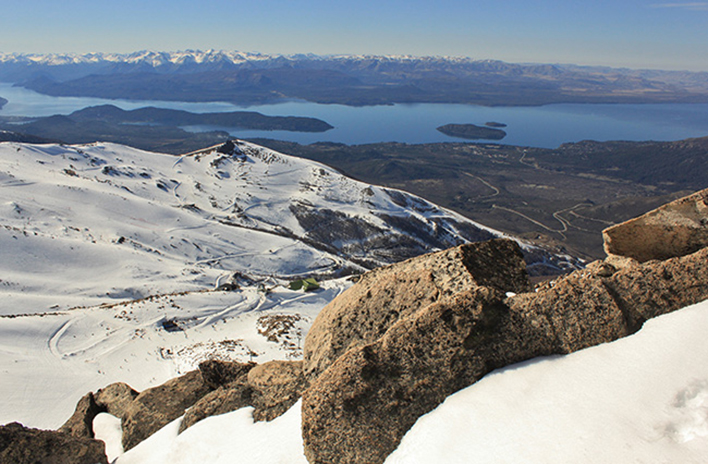 The view of Catedral Alta Patagonia and the lake country beyond from the top of Catedral Norte. [Photo] Jared Hargrave