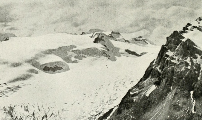 The Wapta Icefield, as photographed in 1907. [Photo] Canadian Alpine Journal