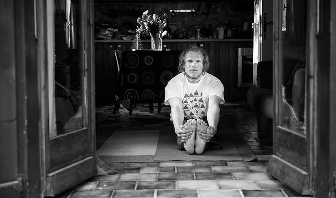Andreas Fransson: Writer, thinker, yogi. [Photo] Daniel Rönnbäck