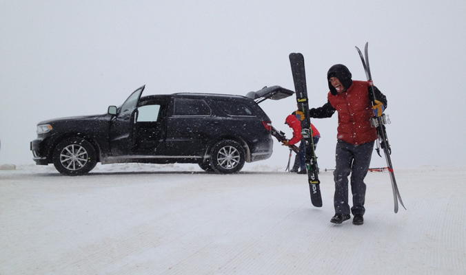 Shuttling the first load of skis up to Powder Mountain. [Photo] Tyler Cohen