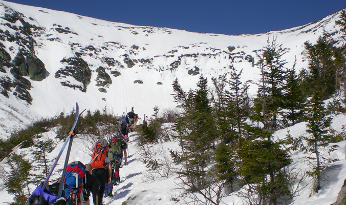 The march toward The Headwall. [Photo] Tyler Cohen