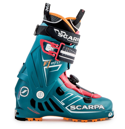 Scarpa's F1 Evo Women's boot.