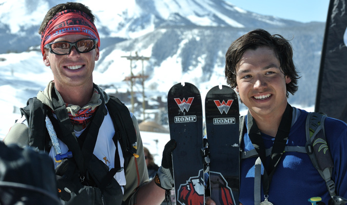 Matt Clark (l) and Nick Clark (r), of the WSC TKTK, placed 18th at the 2014 Elk Mountain Grand Traverse. [Photo] Tyler Cohen