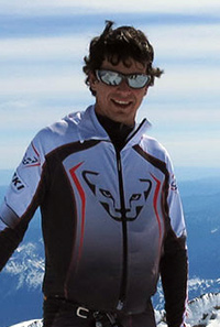 Eric Carter at the summit of Rainier in 2013.