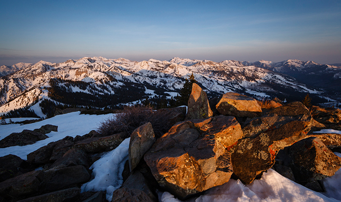 Sunrise from Clayton Peak. Wasatch Mountains, Utah. [Photo] Louis Arevalo