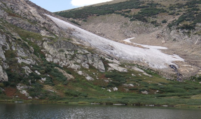St. Mary's Glacier in the September heat. [Photo] Emerson12