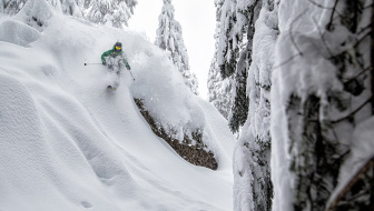Tim Black getting pitted in the Baker BC. This was one of the best powder days of my life.