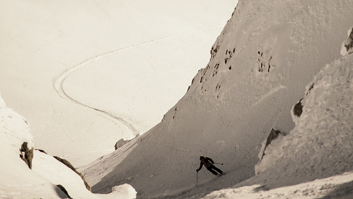Skiers: Jeff Mitchell & Julie Matteau Location: Rogers Pass, BC