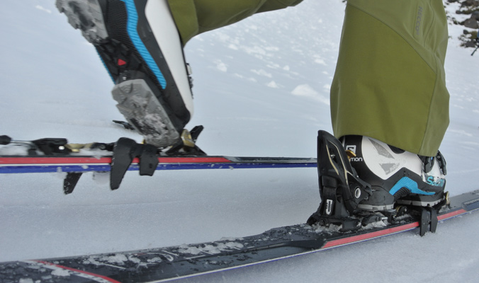 The German word for ski crampon is harscheisen. [Photo] Tyler Cohen