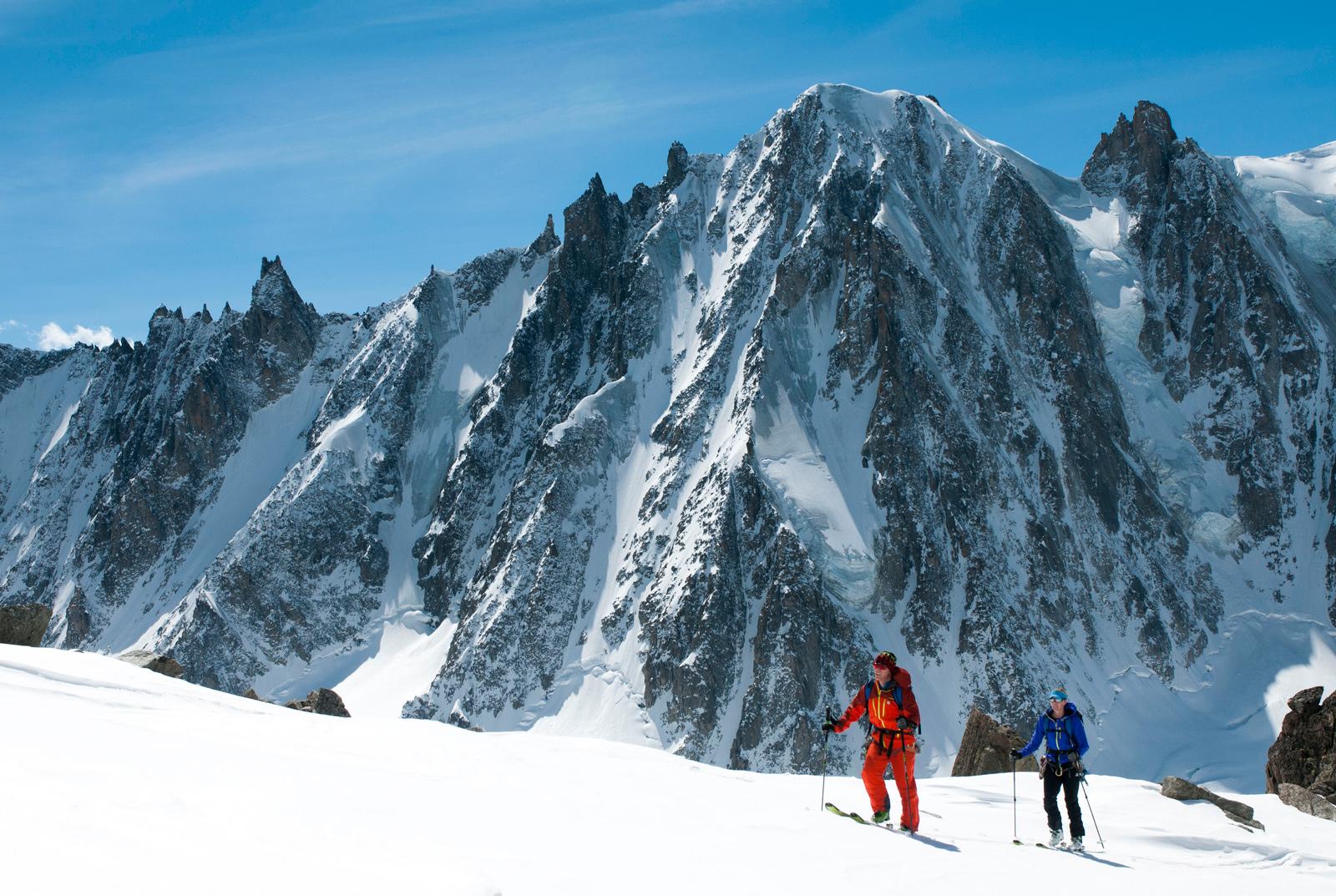 The Smarts above the Argentière Glacier.