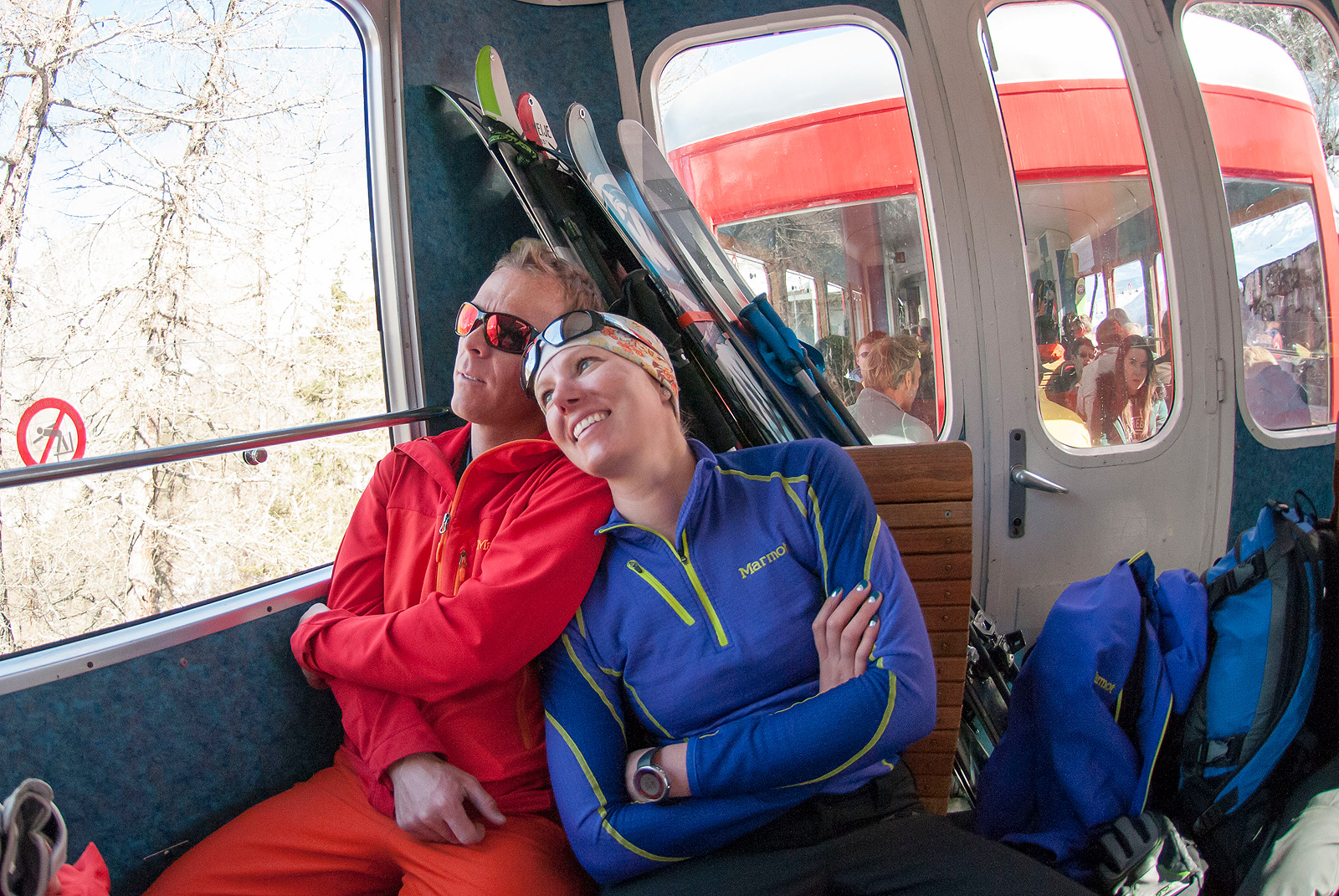 Miles and Liz head back to Chamonix after a day of guiding.