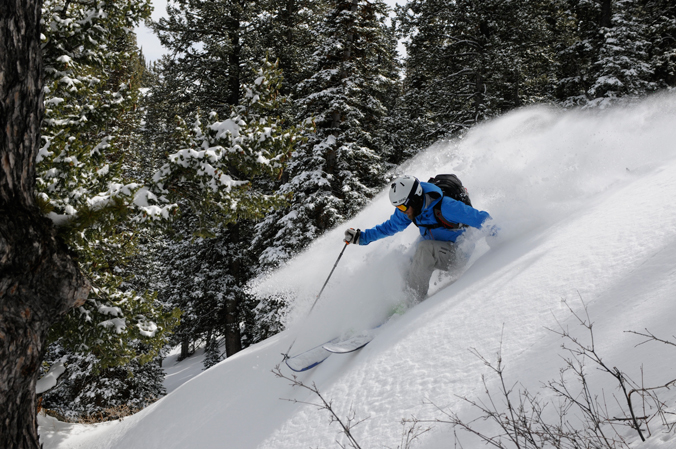Cashing in on Tuesday's pow. [Photo] Jeff Diener