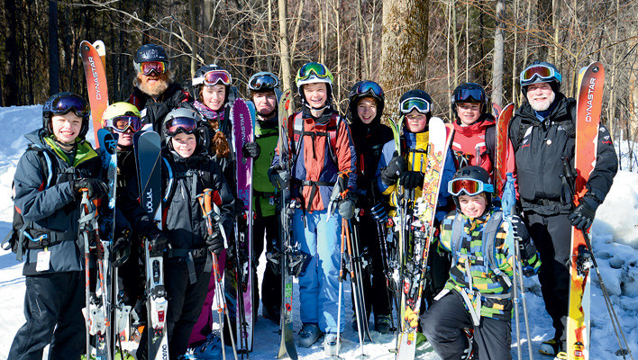 New-School Ski Mountaineers: At Sugarbush, Vt. junior skimos head off piste
