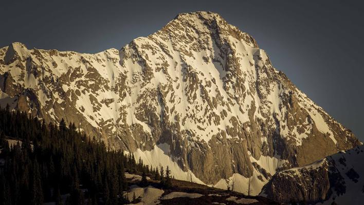 The north face of Capitol Peak (14,130 ft.). Elk Mountains, Colorado. [Photo] Jordan White