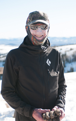 Tim Beaman is ready for a long day of ski testiing [Photo] by TK