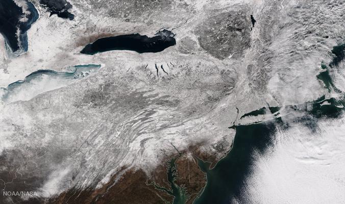 A blizzard hits the Northeast [Photo] NASA Goddard Space Flight Center