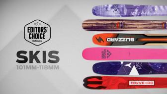 2016 Editors' Choice Awards: Skis 101-118mm