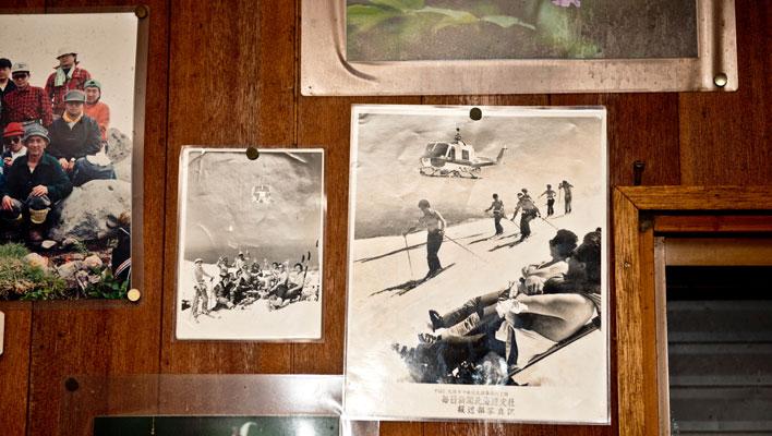 Gaman-san and Horiuchi-san, Hokkaido's original heli-ski pioneers, often based out of the Shokatan Hut in their heyday. [Photo] Freya Fennwood