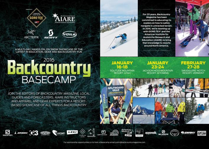 2016 Backcountry Basecamp Information