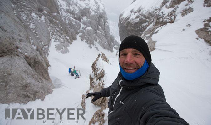 Jay Beyer taking a selfie in Slovenia. [Photo] Jay Beyer