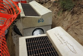 Filtration systems like this are covered by backfill, reducing parking lot size. [Photo] Courtesy of TahoeRoads.com