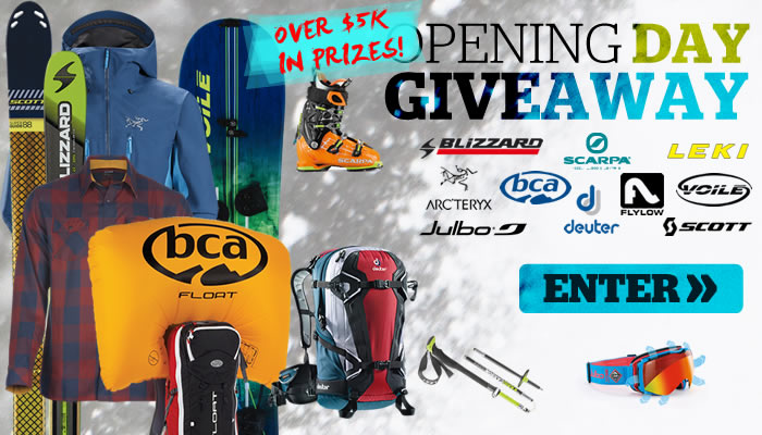 Enter the 2015 Backcountry OPENING DAY Giveaway!