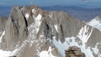 Mt. Russell (14,095 ft.) from Mt. Whitney. [Photo] Mitch Barrie
