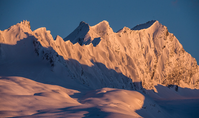A ridge so sharp it could cut. | Valdez, Alaska | Photo: Blake Jorgenson