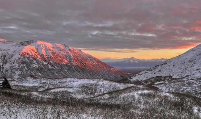 Hatcher Pass in the Talkeetna Mountains north of Wasilla, Alaska. [Photo] Jack C