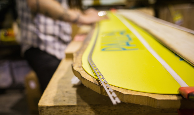 A Palllas board being constructed. [Photo] Margie Richlen