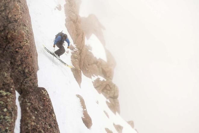 Jesse Levine mid-flight above the open expanse. [Photo] Bjorn Bauer
