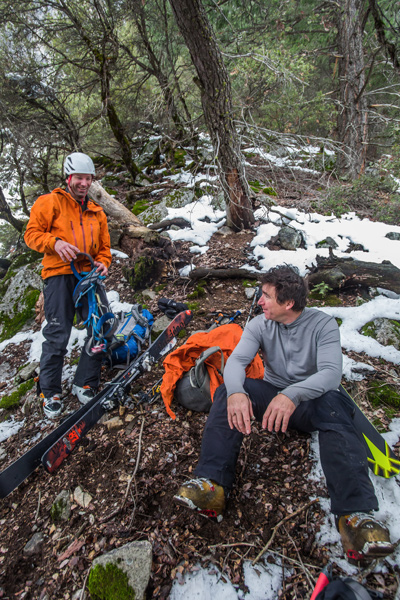 Smith and Torlano chat after they finish the route. [Photo] Eric Rasmussen