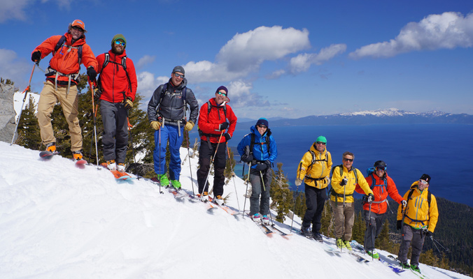 All of the ambassadors on Jake's—a place where the Tahoe Backcountry Alliance worked to preserve parking and access.