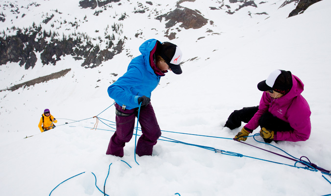Crevasse rescue techniques can be daunting, but practice makes perfect. [Photo] Abby Cooper