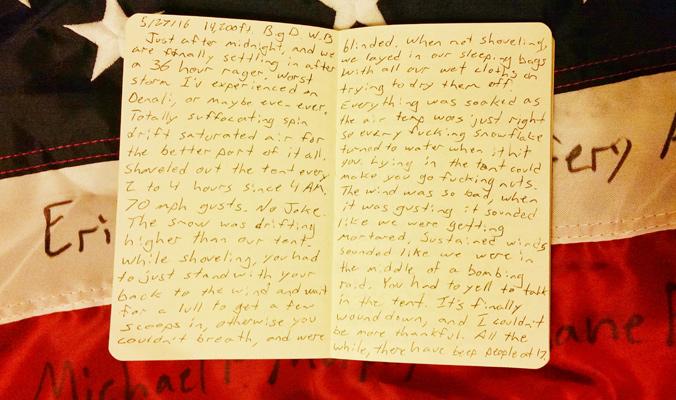 Josh Jespersen journals about his experiences climbing Denali for MMD.