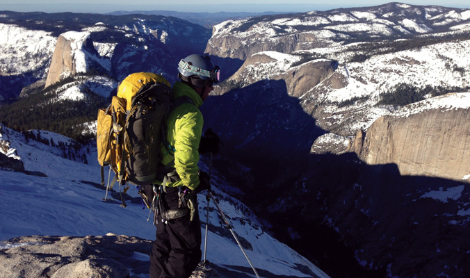 Jason Torlano on top of Cloud's Rest in Yosemite. [Photo] Jon Blair