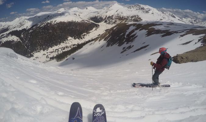A skier's eye view of their line. [Photo] Tim McClellan