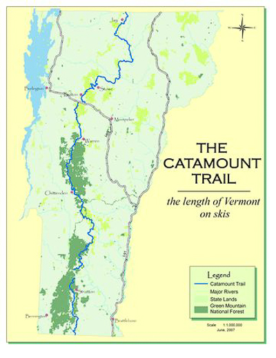 CTA- Catamount Trail Map on bell trail map, devil's head trail map, coyote trail map, highland trail map, marathon trail map, magruder trail map, stowe resort trail map, bousquet mountain trail map, heavenly trail map, brodie mountain trail map, camden snow bowl trail map, dome rock trail map, badger trail map, mount ashland trail map, ampersand mountain trail map, cherry trail map, bousquet ski area trail map, otis ridge trail map, snowbird ski resort trail map, elk mtn trail map,
