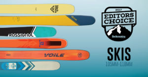2017 Backcountry Editors Choice Skis 105-118MM