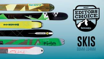 2017 Editors' Choice Awards: Skis 88-104mm