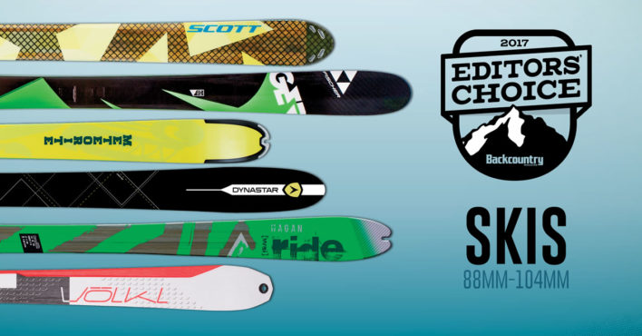 2017 Editors' Choice Awards: Skis 88-104mm