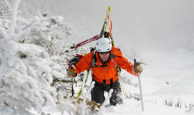 Tyler adn Colin Wroblewski ascend Gulf of Slides on Mt. Washington. [Photo] Tyler Ray