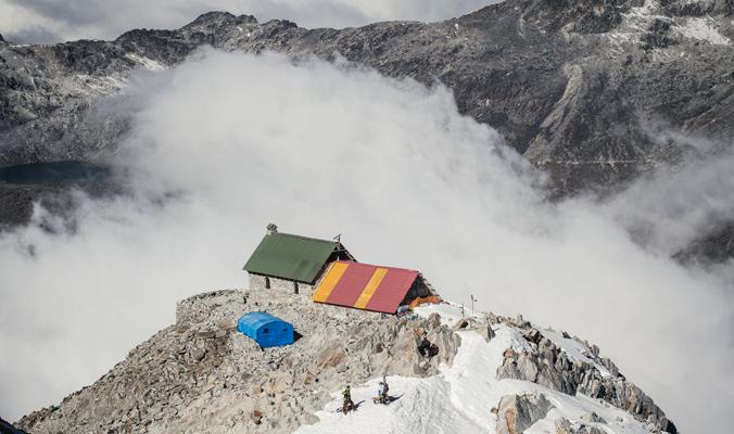 The refugio on Huyana Potosi, Bolivia.