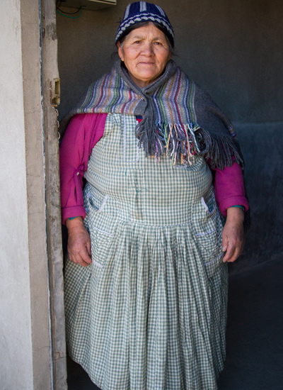 The female caretaker at a Bolivian refugio.