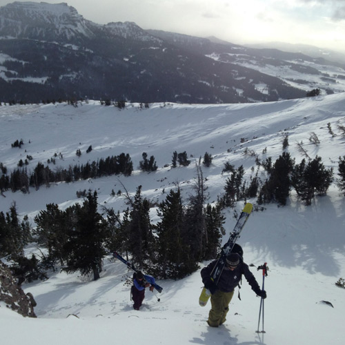 Reich gathers beta on early season conditions in the Absaroka Mountains. [Photo] Rachel Reich