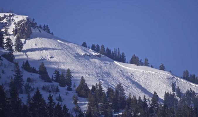 Avalanche at North Wood Camp, Utah. [Photo] Courtesy UAC