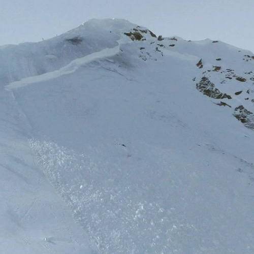 An in-bounds, explosives triggered deep slab avalanche at Crested Butte Mountain Resort