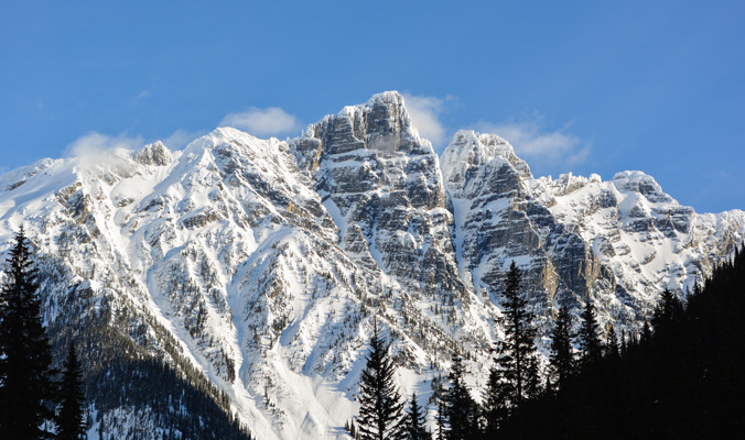 The mountains of Rogers Pass loom tall and inspire backcountry dreams. [Photo] J. Bolingbroke for Parks Canada