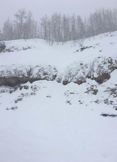 The site of the slide in TK. [Photo] Mark
