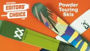2018 Backcountry Editors Choice Powder Touring Skis